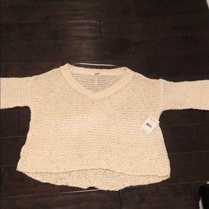 Free people knit cream sweater